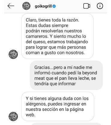 Goiko Grill platos veganos