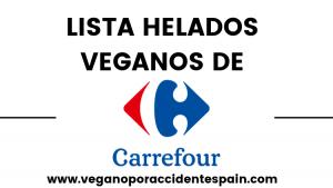 Lista helados veganos Carrefour