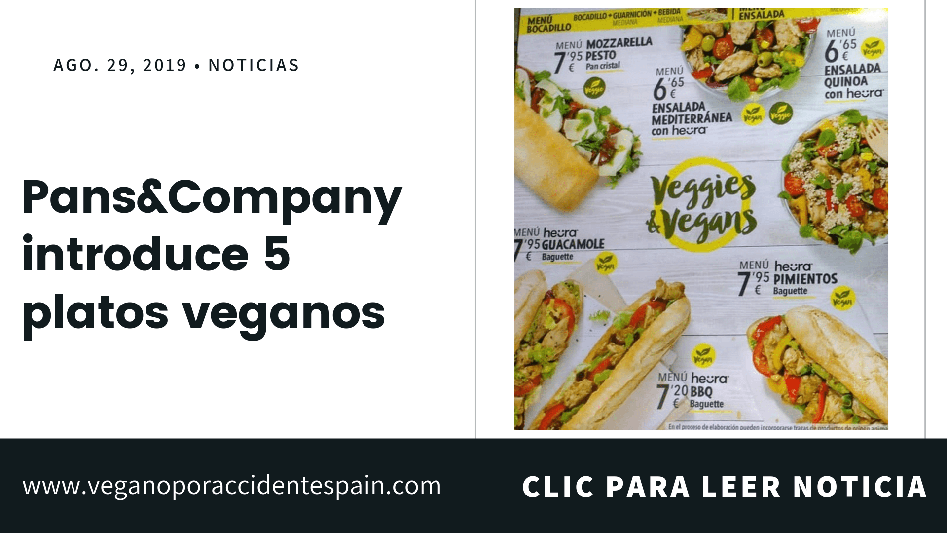 platos veganos pans&company