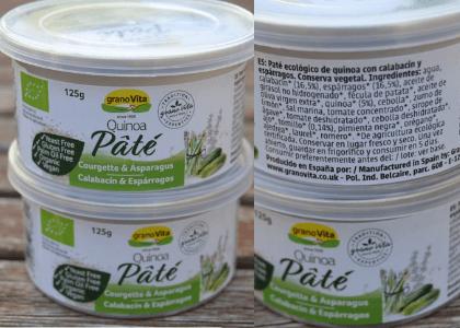 Paté Granovita calabacín y espárragos vegano