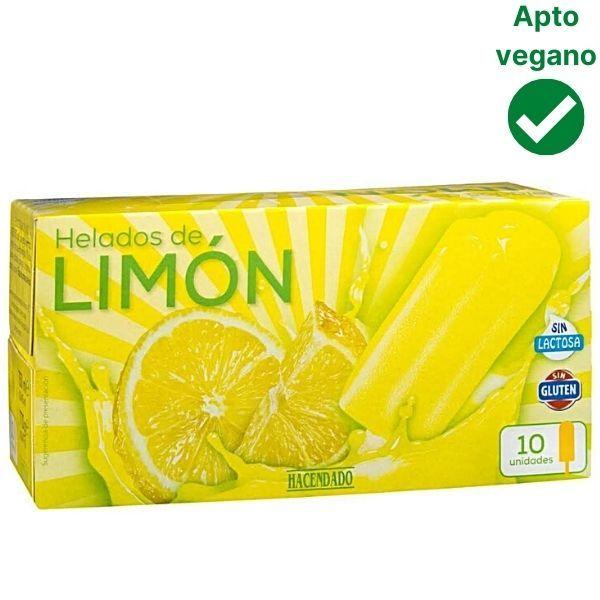 Helado de limón sin lactosa Mercadona