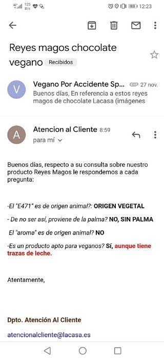 Reyes magos de chocolate sin lactosa Lacasa Uña
