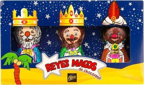 Reyes magos de chocolate apto para veganos