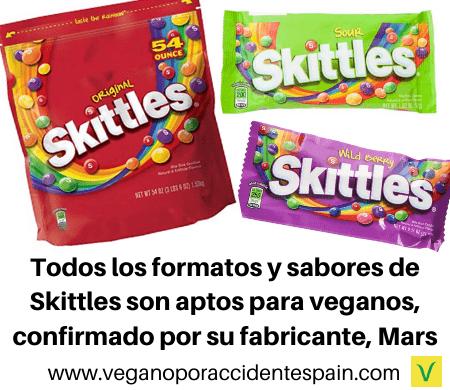 Skittles veganos