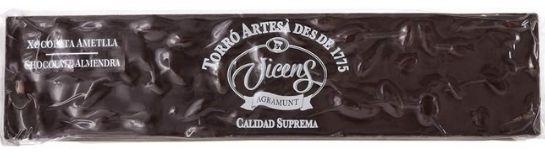 Turrón de chocolate y almendra sin lactosa
