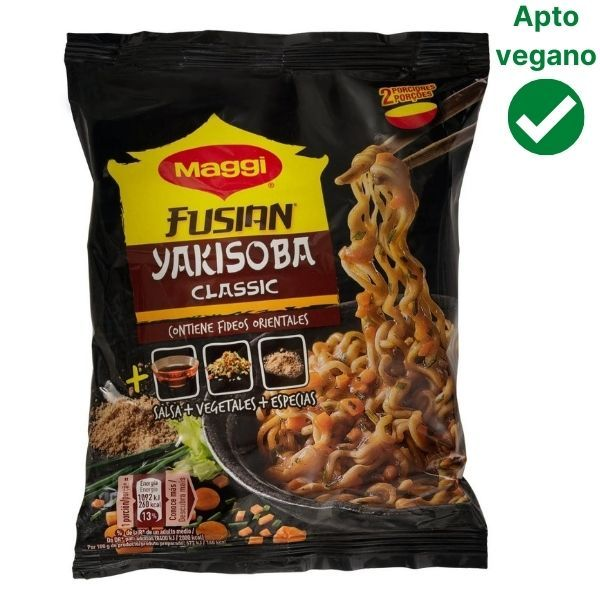 Fideos Yakisoba classic Maggi veganos