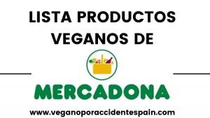 Productos veganos Mercadona