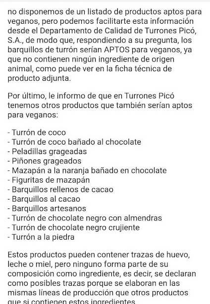Turrones veganos Picó