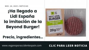 Next Level Burger en Lidl España: la imitación barata de la Beyond Burger