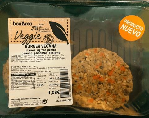Hamburguesa vegana Bon Area
