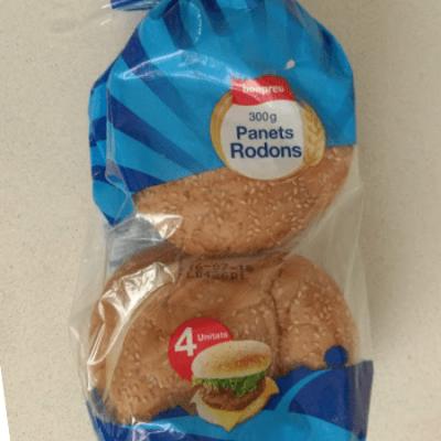 Pan hamburguesa sin lactosa