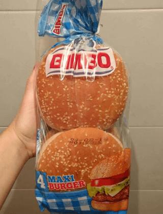 Pan hamburguesa Bimbo vegano