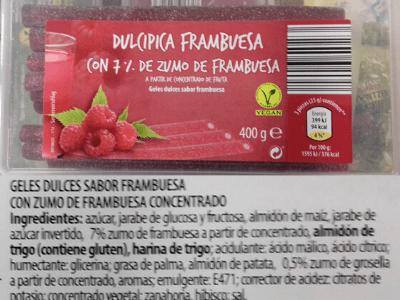 regaliz picante frambuesa vegano aldi dulcipica