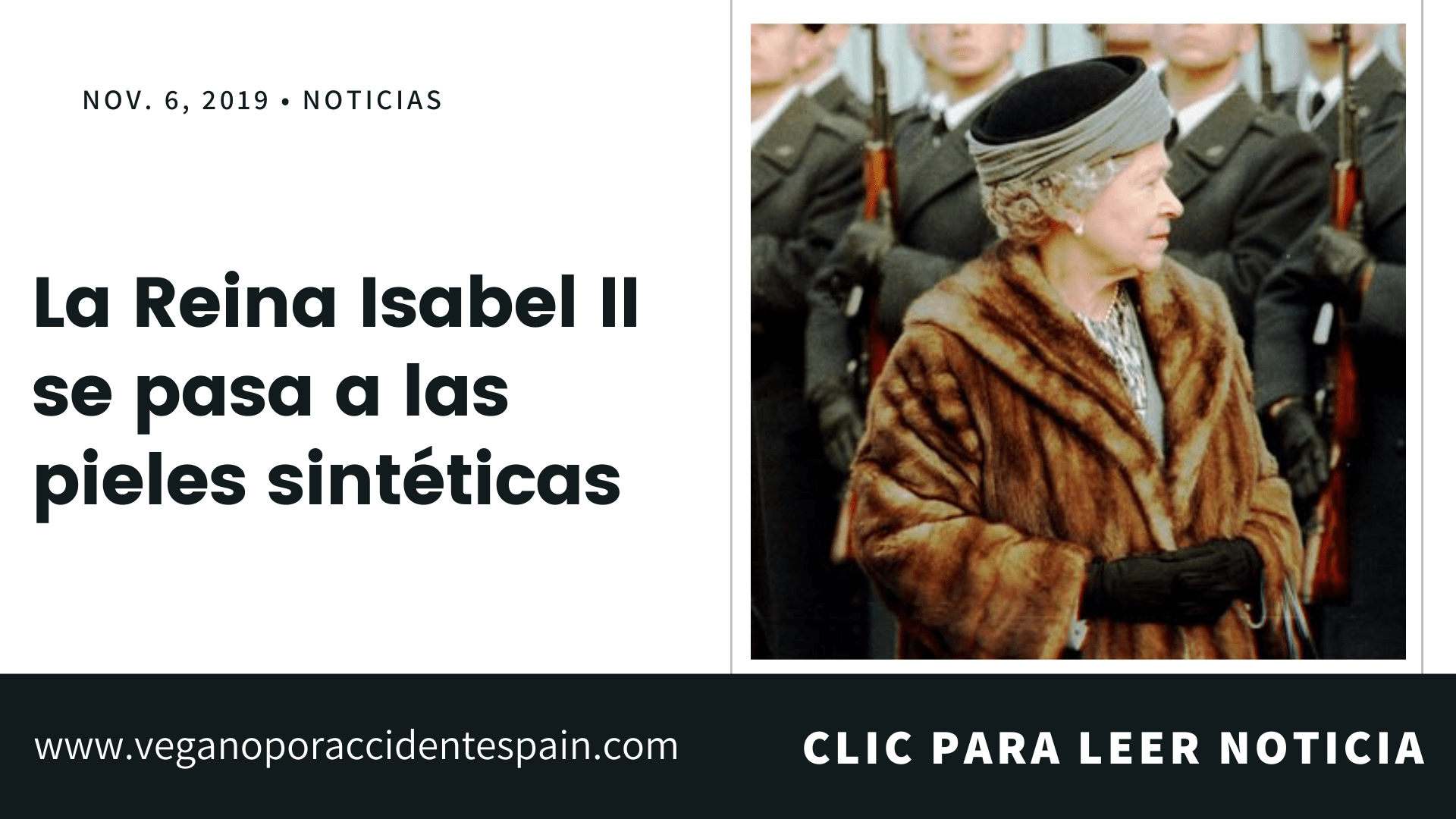 La reina Isabel II se pasa a las pieles sinteticas