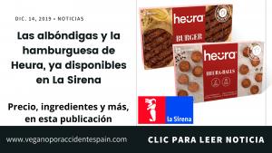 Ya a la venta las albóndigas y la hamburguesa de Heura en La Sirena