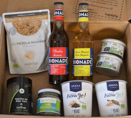 Caja mensual vegana Iupibox