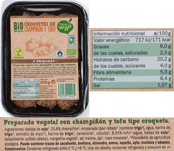 Croquetas veganas Lidl