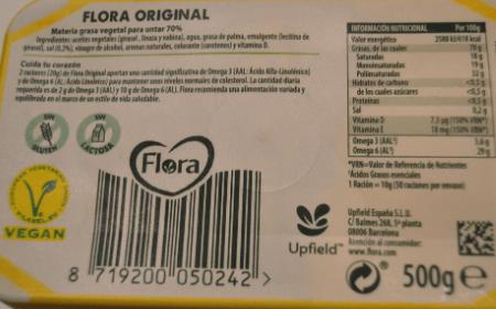 Margarina Flora Ingredientes Original
