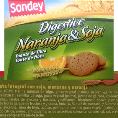 Digestive naranja y soja Lidl veganas