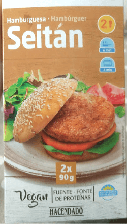 Hamburguesa seitán Mercadona
