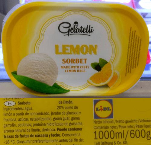 Tarrina helado vegano Lidl