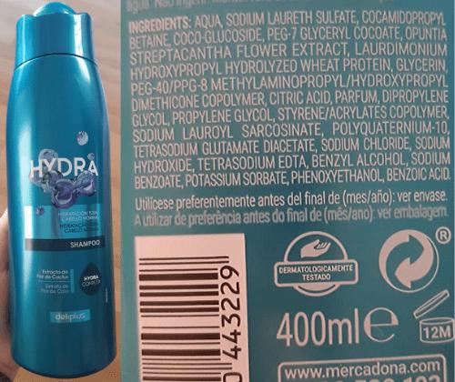 Shampoo vegano Mercadona