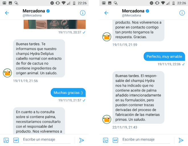 Champu Hydra Mercadona vegano
