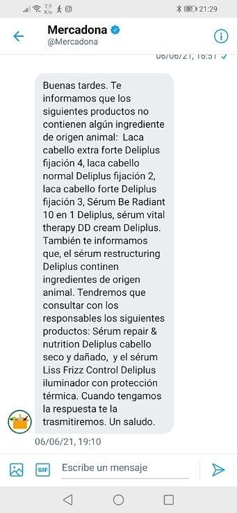 Lacas para el pelo Deliplus Mercadona veganas