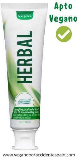 Dentifrico Herbal Mercadona vegano