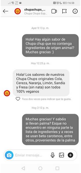 Chupa Chups veganos