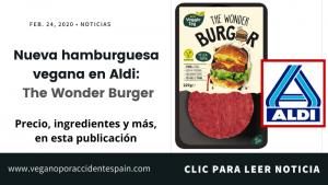 Nueva hamburguesa vegana en Aldi: Wonder Burger