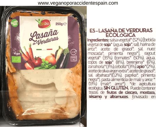Lasaña vegana Carrefour