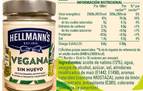 Mayonesa vegana Carrefour