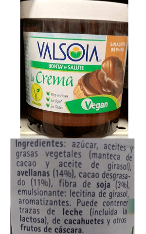 Nocilla vegana Carrefour