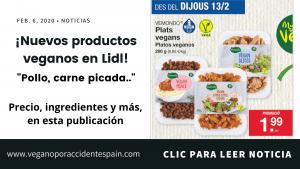 Nuevos productos veganos en Lidl