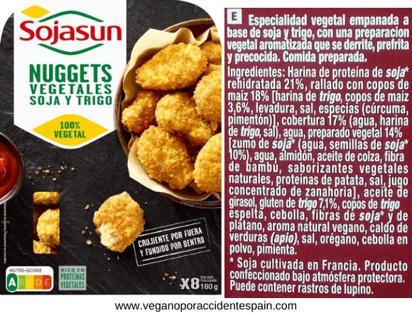 Nuggets veganos Sojasun Carrefour