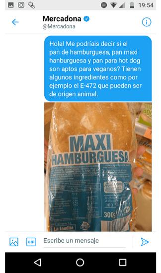 Pan hamburguesa vegano