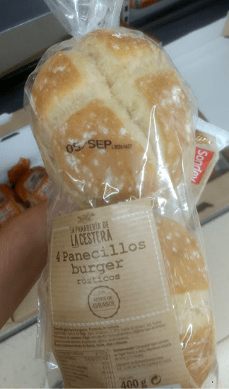 Pan de hamburguesa Lidl vegano