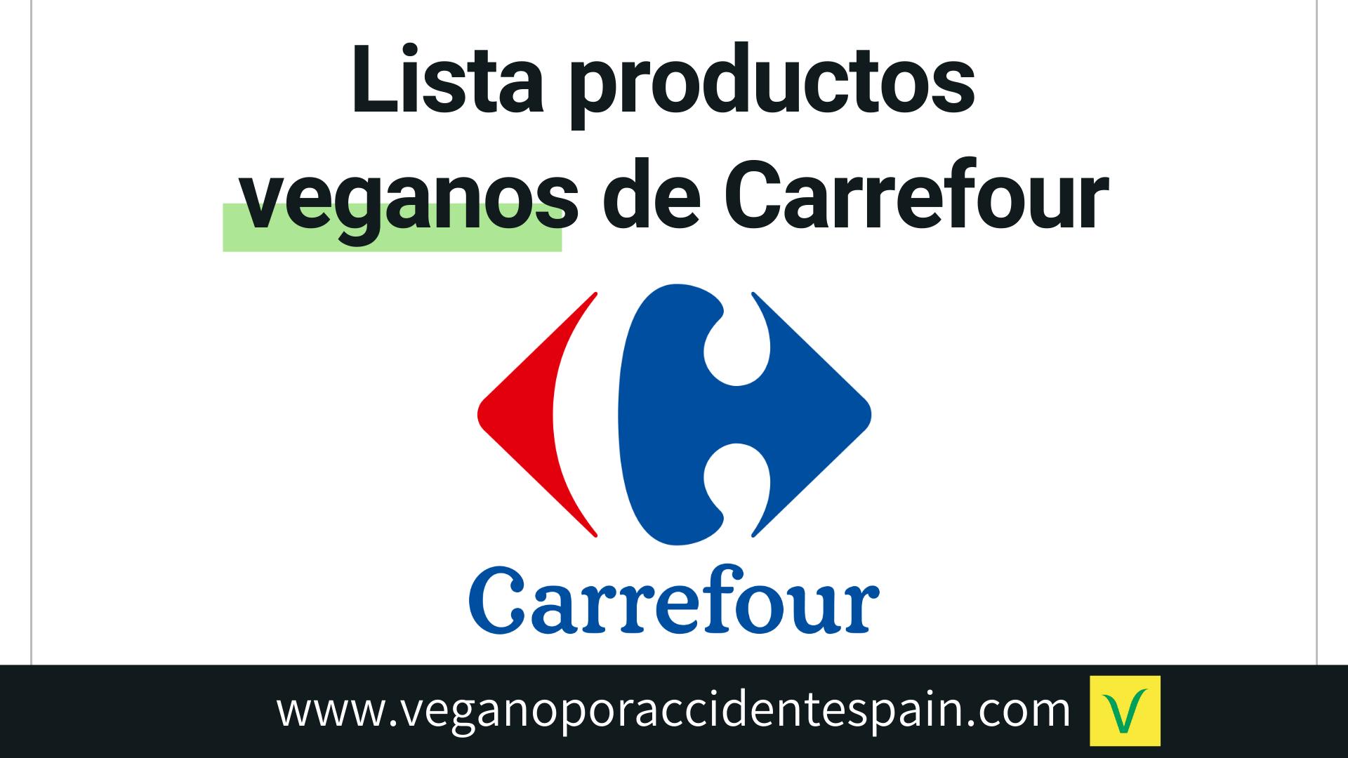 Productos veganos de Carrefour