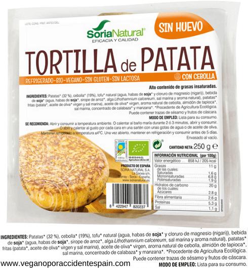 Tortilla de patatas vegana Carrefour