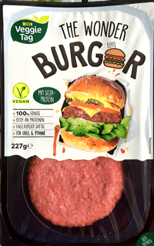 Hamburguesa vegana Aldi Wonder Burger