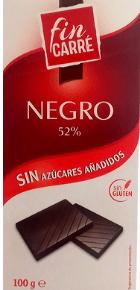 Chocolate negro sin azúcares añadidos Fin Carré (Lidl)