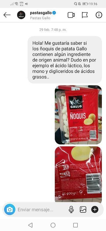 Ñoquis Gallo veganos
