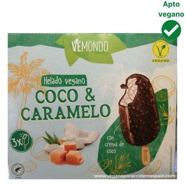 Helado almendrado con caramelo vegano Lidl Vemondo