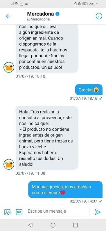 Barritas energéticas veganas Mercadona