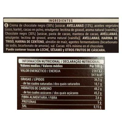 Barritas de chocolate negro Sarelle (Mercadona)