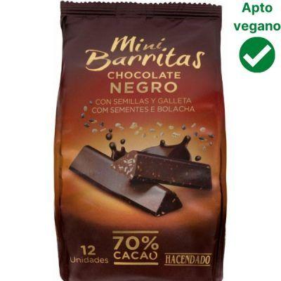 Barritas de chocolate negro Hacendado (Mercadona)