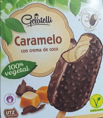 Bombón helado con caramelo vegano Lidl