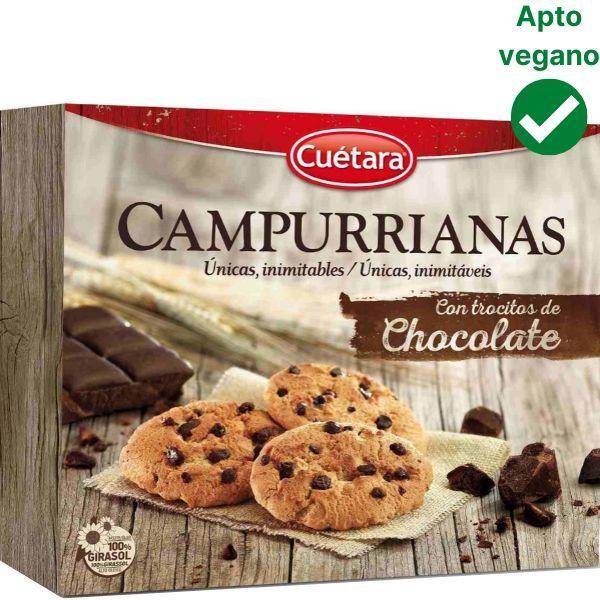 Campurrianas con chocolate veganas