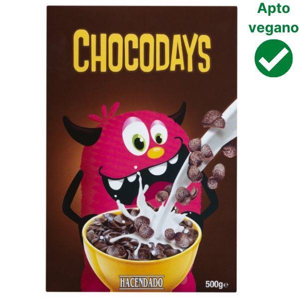 Cereales Chocodays Mercadona veganos